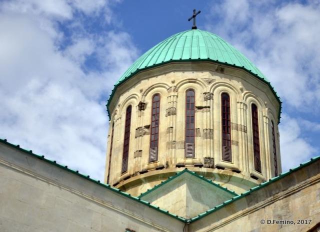 Green roof of Bagrati church (Kutaisi, Georgia, 2013)