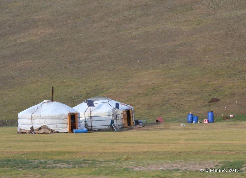 A couple of Gers, Mongolian Yurts (Mongolia, 2017)