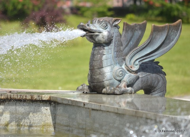 Dragon fountain (Kazan, Russia, 2017)