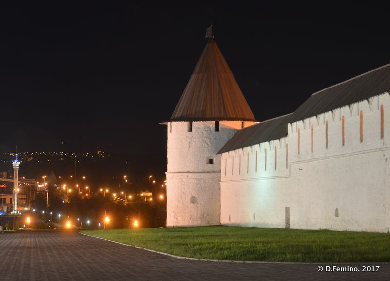 Kremlin walls at night (Kazan, Russia, 2017)