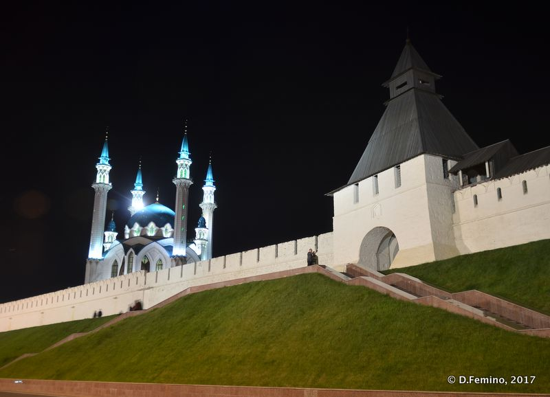 View of the kremlin at night (Kazan, Russia, 2017)
