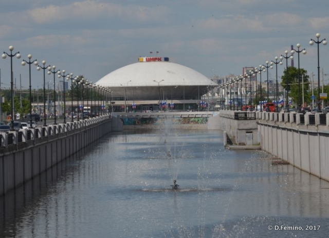 Circus at the end of Bulak river (Kazan, Russia, 2017)