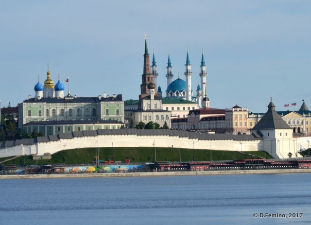 The kremlin from the Kazanka riverside (Kazan, Russia, 2017)