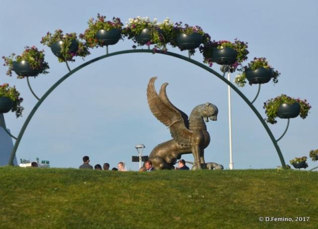 Dragon statue (Kazan, Russia, 2017)