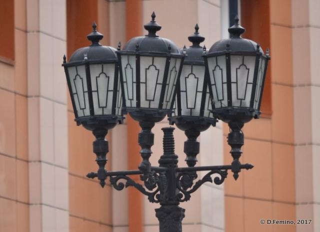 Nice lamps in Vaynera street (Yekaterinburg, Russia, 2017)