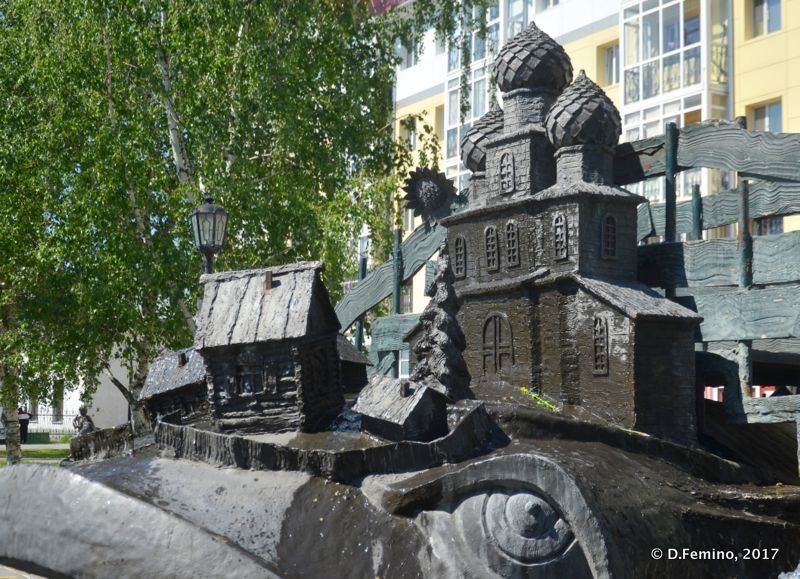 Miracle whale Fountain (Tobolsk', Russia, 2017)