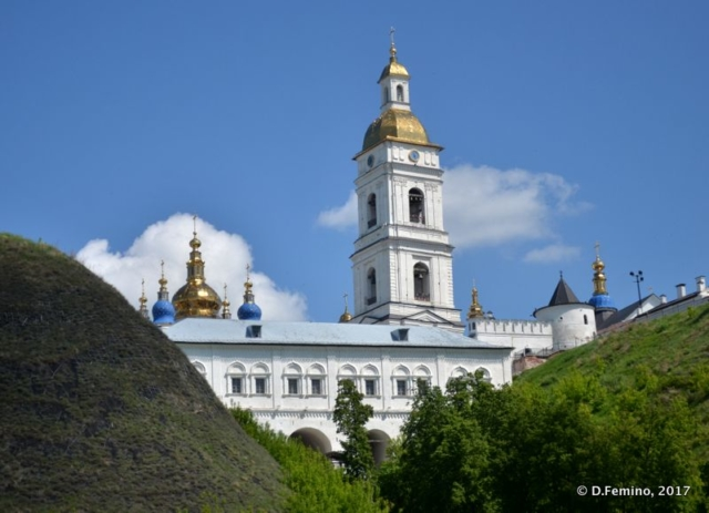 Kremlin view from lower town (Tobolsk', Russia, 2017)