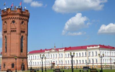 Central square in Tobolsk'