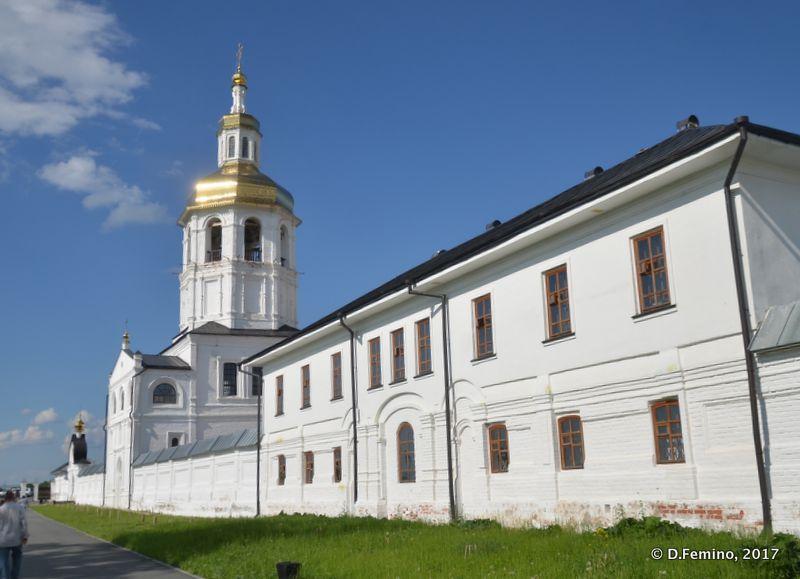 Walls of Znamensky Monastery (Abalak, Russia, 2017)