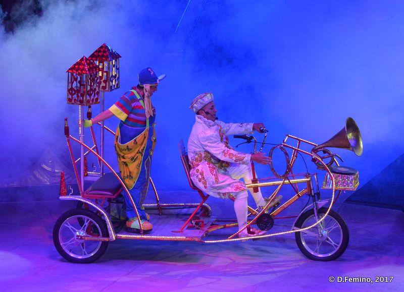 Clowns on a funny bike (Tyumen, Russia, 2017)