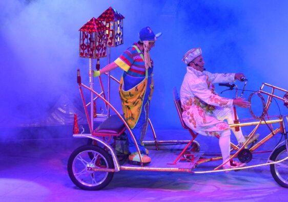 Clowns on a bike