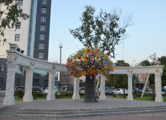 Modern art tree (Tyumen, Russia, 2017)