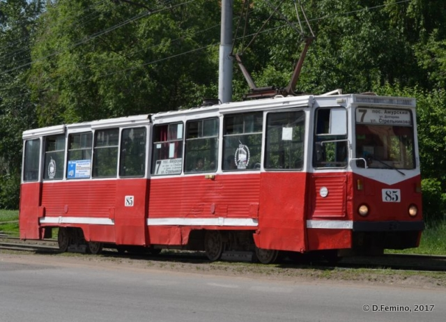 A local tram (Omsk, Russia, 2017)