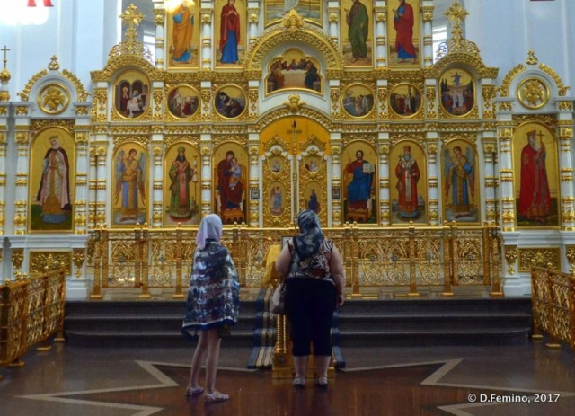 Assumption Cathedral altar (Omsk, Russia, 2017)