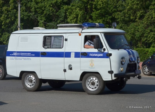 Small police van (Omsk, Russia, 2017)