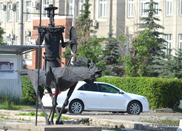 Unexpected Don Quixote monument (Omsk, Russia, 2017)