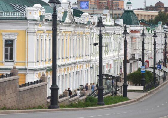 Lenin street in Omsk