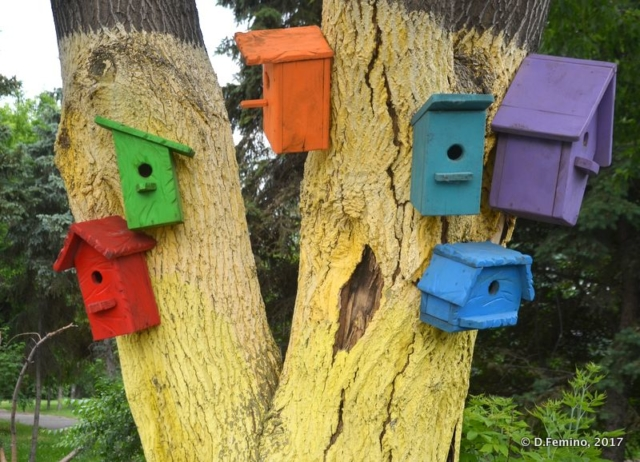 Colourful bird houses (Omsk, Russia, 2017)