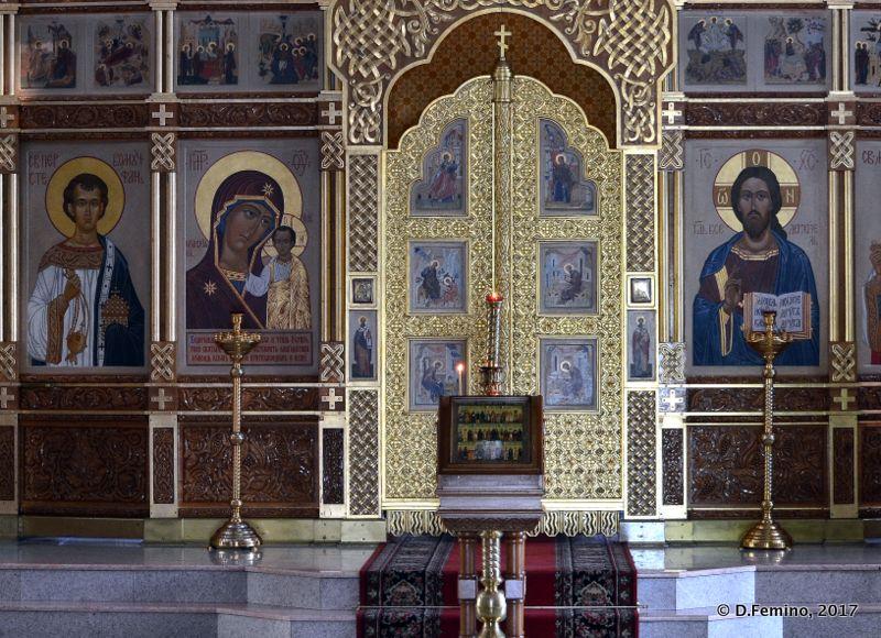 Alexander Nevsky Cathedral interiors (Novosibirsk, Russia, 2017)