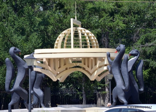 Sphynxes monument (Novosibirsk, Russia, 2017)