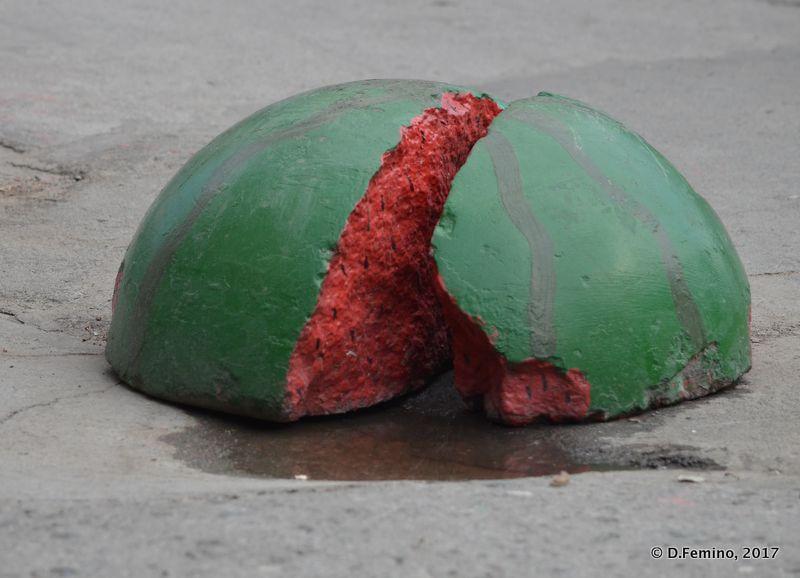 Watermelon stone (Novosibirsk, Russia, 2017)