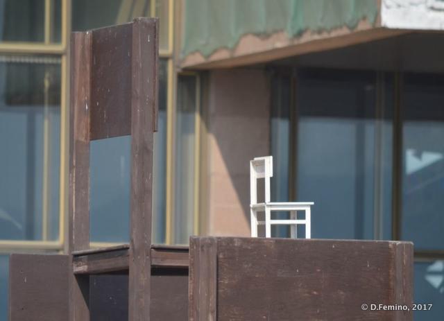 Small chair on a big chair (Krasnoyarsk, Russia, 2017)