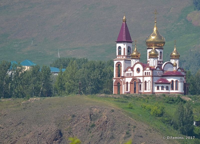Beautiful monastery near Stolby reserve (Krasnoyarsk, Russia, 2017)