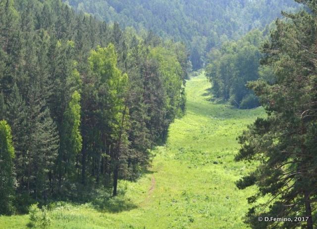 View of Stolby reserve (Krasnoyarsk, Russia, 2017)