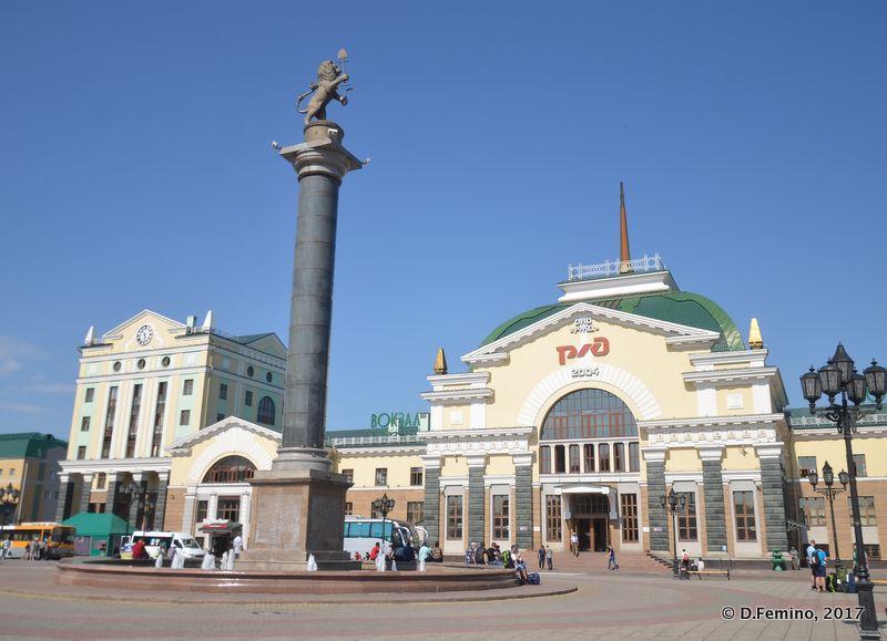 Railway station (Krasnoyarsk, Russia, 2017)