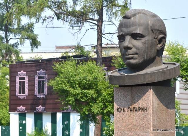 Jury Gagarin bust (Irkutsk, Russia, 2017)