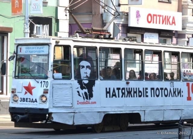 Che Guevara on the tram (Irkutsk, Russia, 2017)
