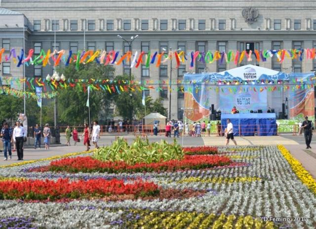 Kirov square (Irkutsk, Russia, 2017)