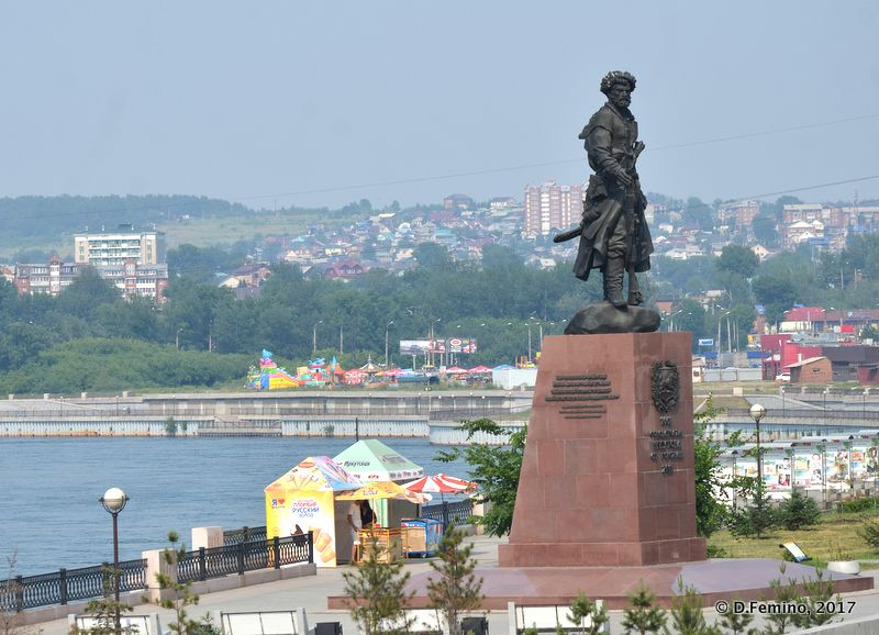 Monument Yakovu Pohabovu (Irkutsk, Russia, 2017)