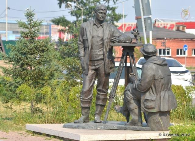 Painters monument (Irkutsk, Russia, 2017)