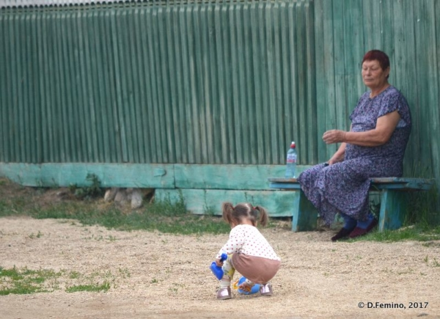 Looking after the playing child (Khuzhir, Russia, 2017)