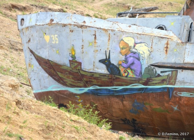 Painted wreck (Khuzhir, Russia, 2017)