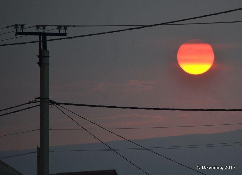 Telegraph pole at sunset (Khuzhir, Russia, 2017)