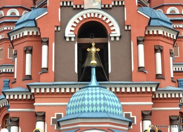 Frontal view of Kazan church (Irkutsk, Russia, 2017)