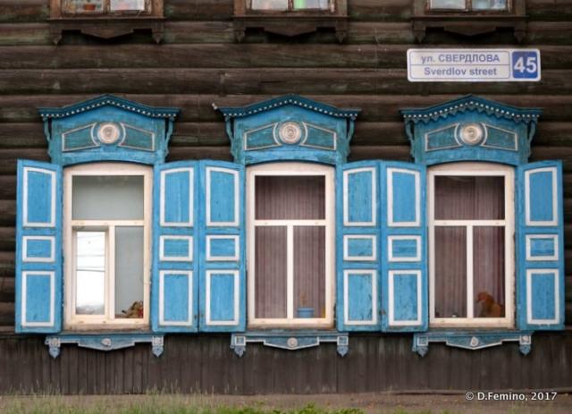 Pale blue windows (Irkutsk, Russia, 2017)