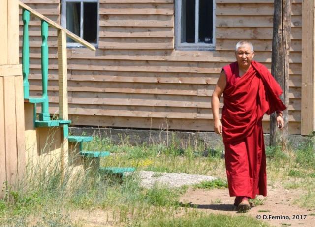 Monk in the monastery (Ivolginsky Datsan, Russia, 2017)