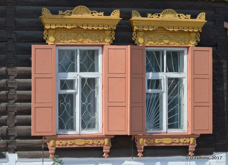 Traditional windows (Ulan Ude, Russia, 2017)
