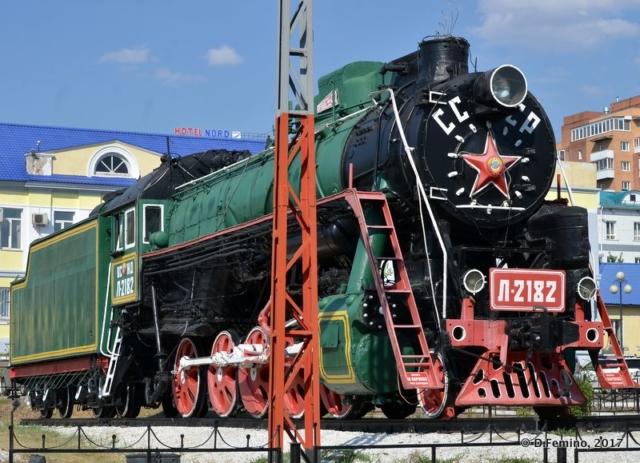 Huge steam locomotor (Ulan Ude, Russia, 2017)