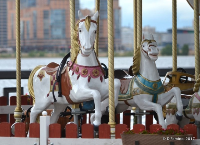 Horses on the carousel (Kazan, Russia, 2017)