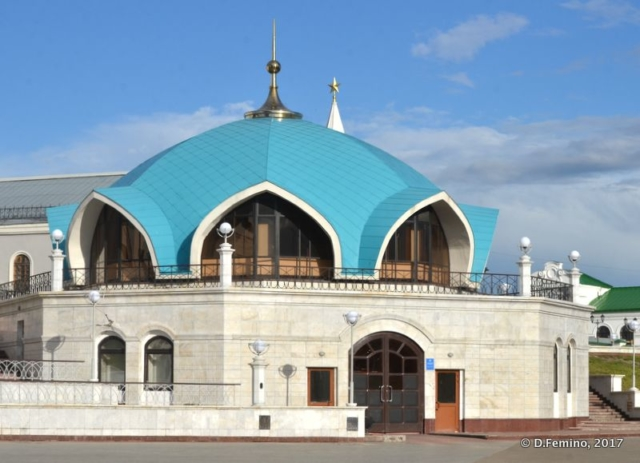 Green roof of Qolşärif Mosque (Kazan, Russia, 2017)