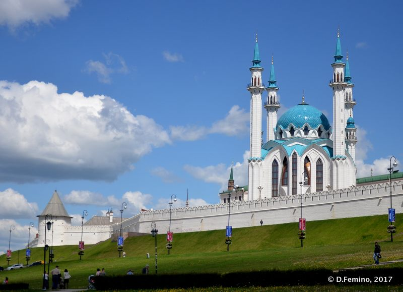 One more view of Qolşärif Mosque (Kazan, Russia, 2017)