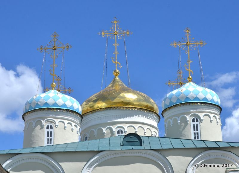 Chessboard domes of Nicholas church (Kazan, Russia, 2017)