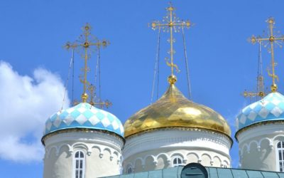 Nicholas church domes in Kazan