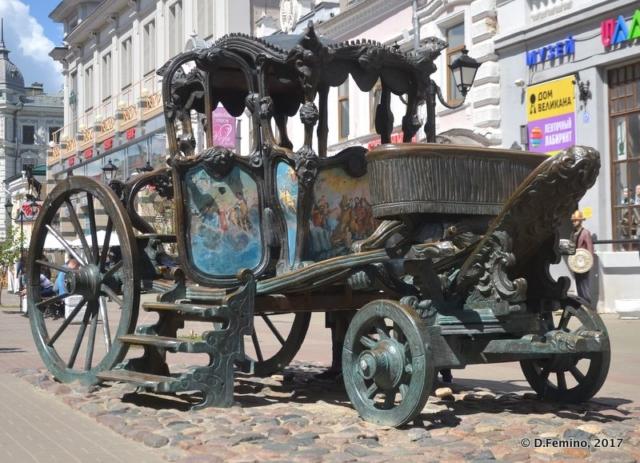 Cart monument (Kazan, Russia, 2017)