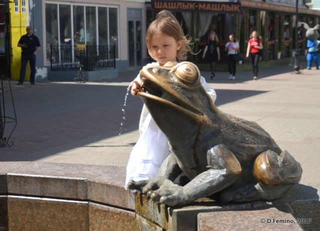 Playing with the frog (Kazan, Russia, 2017)