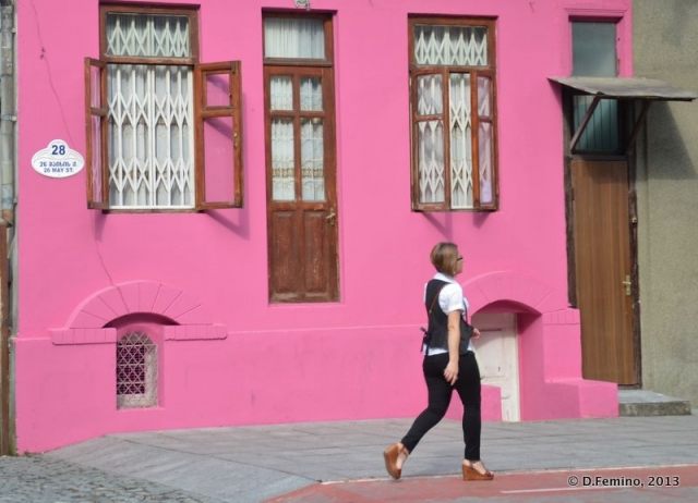 Walking by the pink (Batumi, Georgia, 2013)